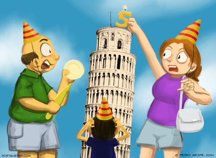 """Tired of the """"holding the tower"""" pose? Try this!"""