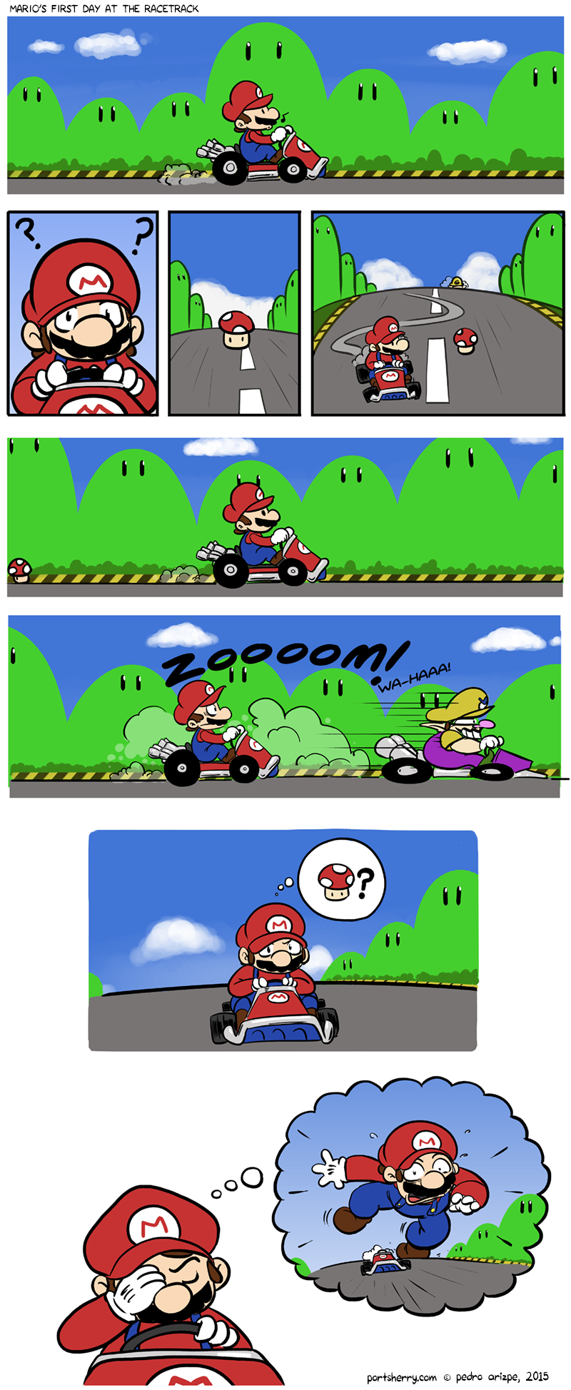Mario's first day at the race track