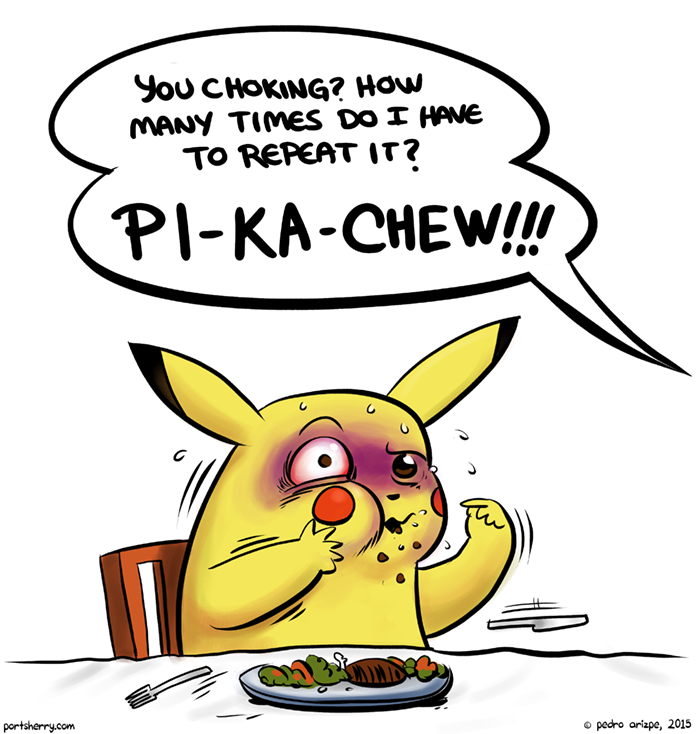 """Pigachu, more like"", says Papa Pikachu"