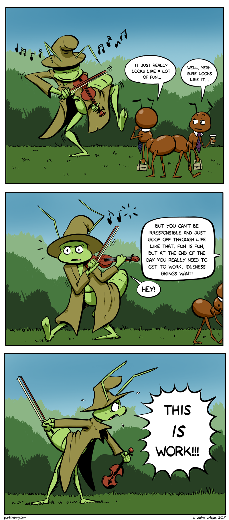 Those useless grasshoppers