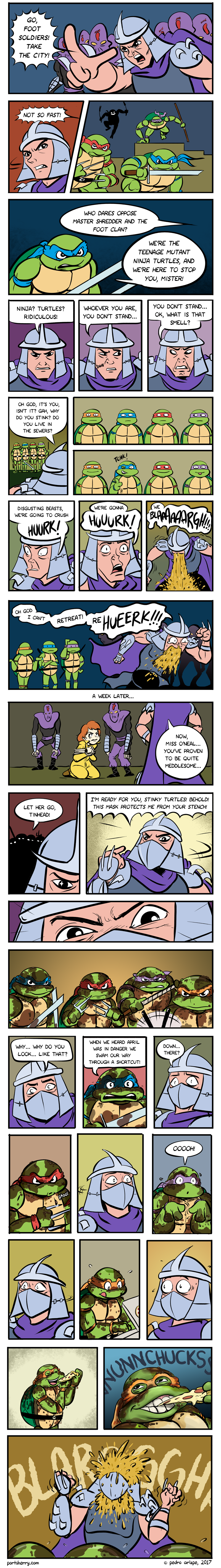 Shredder meets the turtles